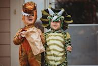 """<p>If your little boys have been missing the museum this year, add some history — or prehistory, to be exact — back into their lives with a dinosaur costume that will keep them snug all night. </p><p><a class=""""link rapid-noclick-resp"""" href=""""https://www.amazon.com/Spooktacular-Creations-Child-Costume-Orange/dp/B07H3CQFN9/?tag=syn-yahoo-20&ascsubtag=%5Bartid%7C10055.g.33417241%5Bsrc%7Cyahoo-us"""" rel=""""nofollow noopener"""" target=""""_blank"""" data-ylk=""""slk:SHOP T-REX COSTUMES"""">SHOP T-REX COSTUMES</a></p><p><a class=""""link rapid-noclick-resp"""" href=""""https://www.amazon.com/Spooktacular-Creations-Triceratops-Dinosaur-Costume/dp/B07H3G1SH1/?tag=syn-yahoo-20&ascsubtag=%5Bartid%7C10055.g.33417241%5Bsrc%7Cyahoo-us"""" rel=""""nofollow noopener"""" target=""""_blank"""" data-ylk=""""slk:SHOP TRICERATOPS COSTUMES"""">SHOP TRICERATOPS COSTUMES</a></p><p><strong>RELATED: </strong><a href=""""https://www.goodhousekeeping.com/holidays/halloween-ideas/g21729416/toddler-halloween-costumes/"""" rel=""""nofollow noopener"""" target=""""_blank"""" data-ylk=""""slk:35 Unique Toddler Halloween Costumes That Are Too Stinkin' Cute"""" class=""""link rapid-noclick-resp"""">35 Unique Toddler Halloween Costumes That Are Too Stinkin' Cute</a></p>"""