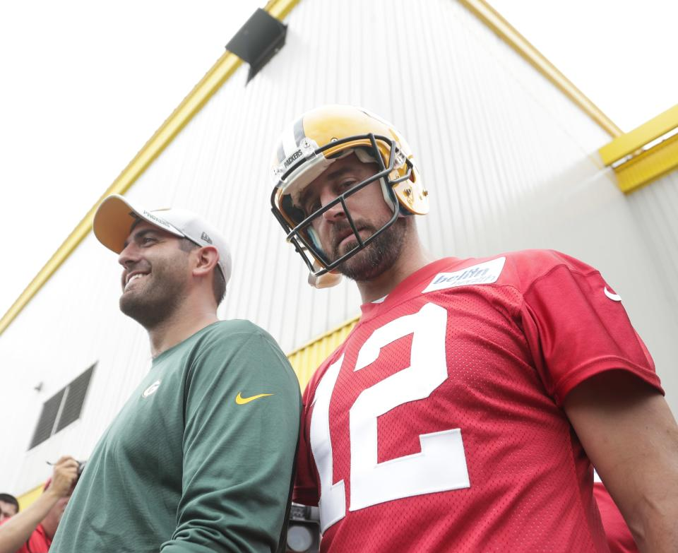 Green Bay Packers quarterback Aaron Rodgers said he supports LeBron James and said NFL players should ignore President Donald Trump. (AP)