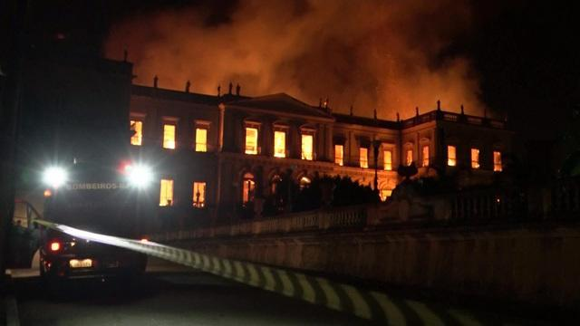 <p>Investigators in Brazil are trying to determine what caused a massive fire that engulfed a 200-year-old museum in Rio de Janeiro Sunday night. More than 20 million historical artifacts were destroyed and some 80 firefighters were called in to battle the blaze. Anne-Marie Green reports. </p>