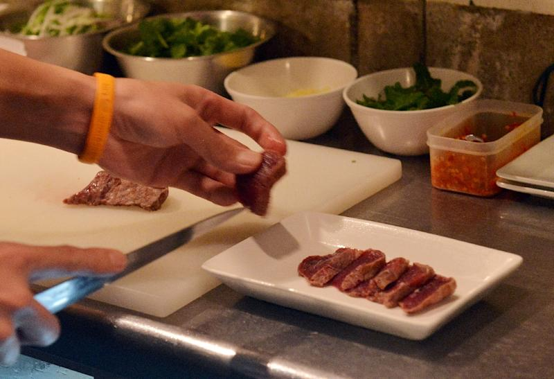 Japan makes no secret of the fact that whale meat ends up on the plate, despite a ban on hunting (AFP Photo/Yoshikazu Tsuno )
