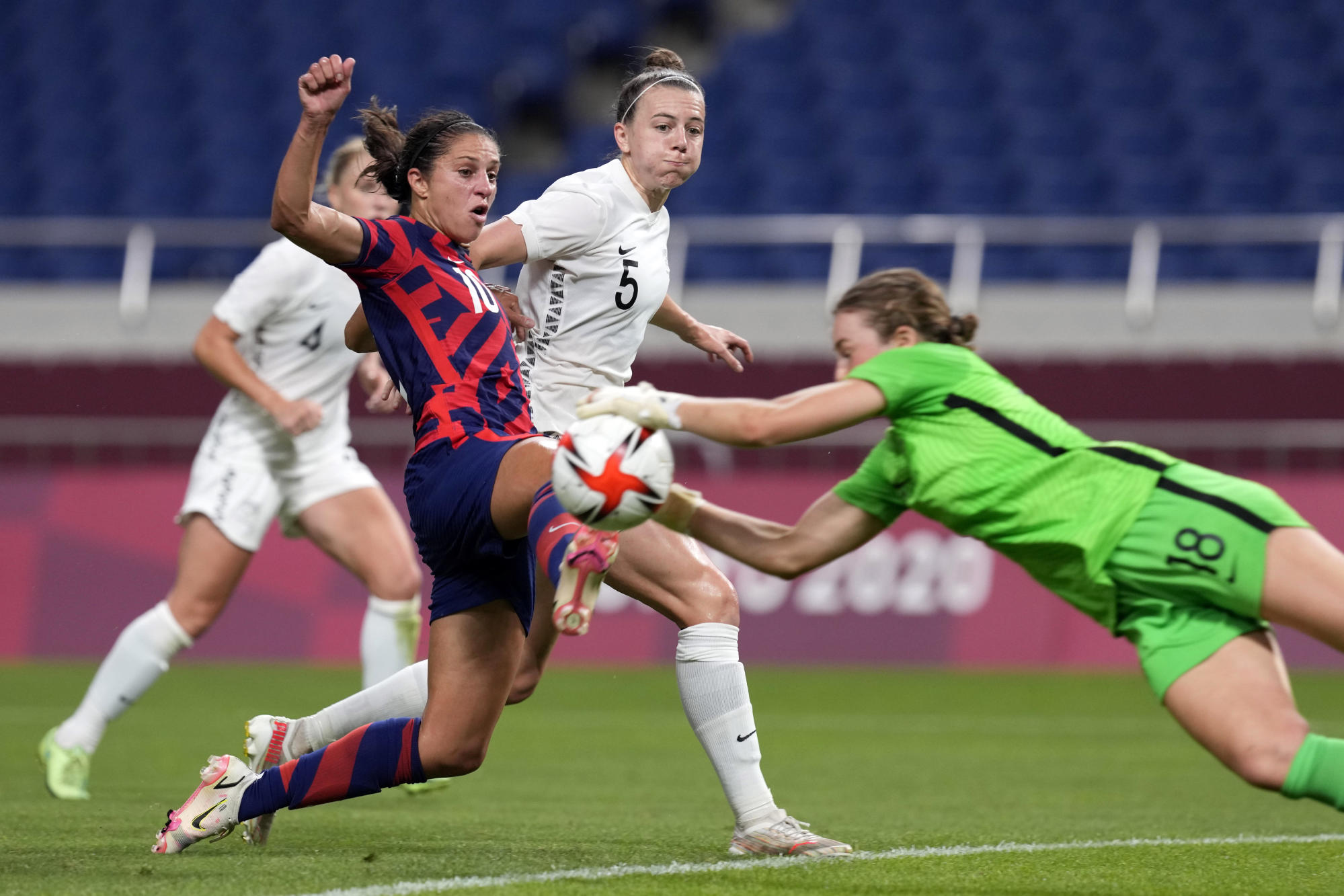 Image Lloyd navigates her 4th Olympics for the US women's team