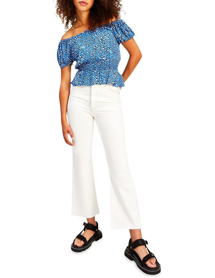 Harper High Rise Straight Flare White Ankle Jeans