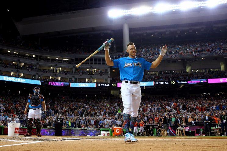 Aaron Judge dominated the 2017 Home Run Derby. (Getty Images)