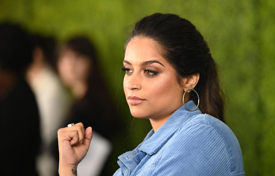 <p>File image: Lilly Singh arrives for WE Day California at the Forum in Inglewood, California on 25 April 2019</p> (Getty Images)
