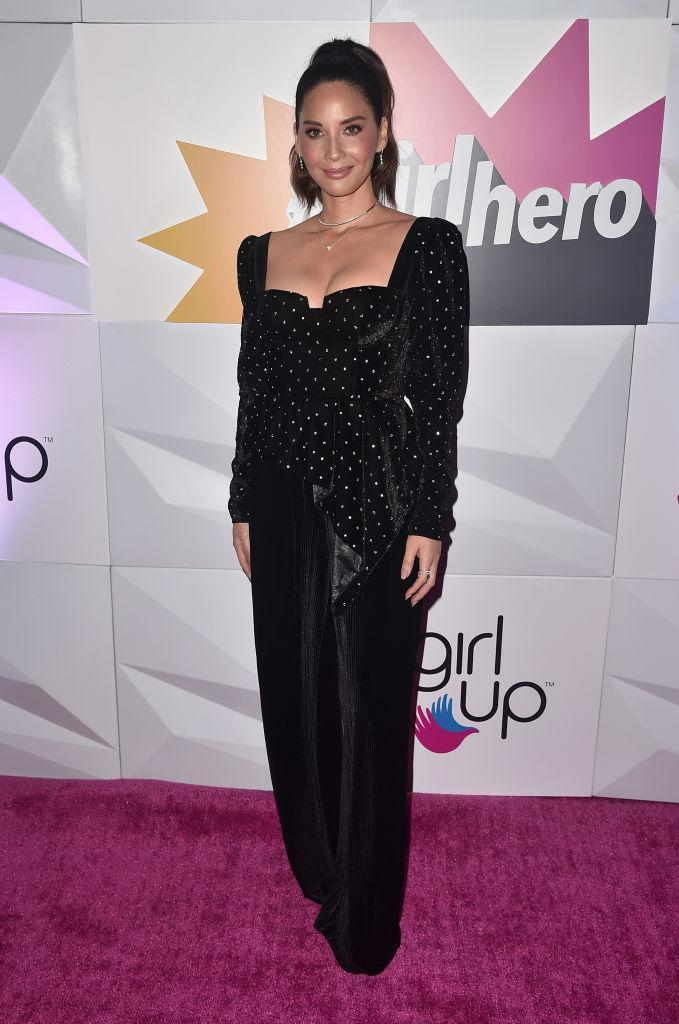 <p>Olivia Munn reminded us why she's our go-to style muse in a Self-Portrait number for the #GirlHero Awards on October 14.<em> [Photo: Getty]</em> </p>