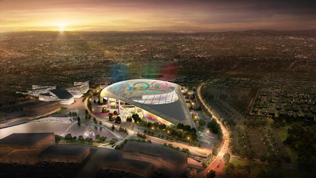 <p>LA Stadium at Hollywood Park. (Photo courtesy of LA2028) </p>