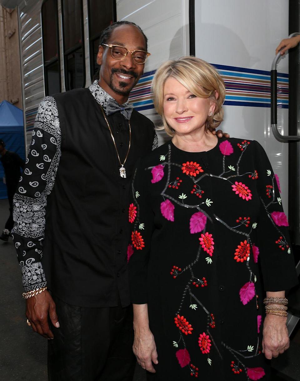 """<p>""""I love Martha—like, I love her for real. She's the big sister I never had. Being able to correct me, to teach me, to show me how to be better, to give me something to aspire to be."""" — Snoop Dogg, <em><a href=""""https://www.marthastewart.com/1538205/martha-stewart-snoop-dogg-friendship-explained"""" rel=""""nofollow noopener"""" target=""""_blank"""" data-ylk=""""slk:Martha Stewart"""" class=""""link rapid-noclick-resp"""">Martha Stewart</a></em></p><p>""""I like his laid-back energy—I like his outspokenness, I like his sense of timing, and I really enjoy to watch him cook."""" — Martha Stewart, <em><a href=""""https://www.marthastewart.com/1538205/martha-stewart-snoop-dogg-friendship-explained"""" rel=""""nofollow noopener"""" target=""""_blank"""" data-ylk=""""slk:Martha Stewart"""" class=""""link rapid-noclick-resp"""">Martha Stewart</a></em></p>"""