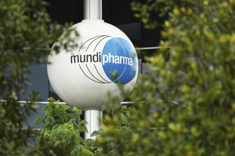 This Thursday, May 16, 2019, photo shows the exterior of a Mundipharma building in Singapore. As the United States fights to undo the damage of an opioid epidemic, Mundipharma and other companies are expanding around the world. The Mundipharma network of companies now operates in more than 120 countries; an emerging markets branch has expanded into Asia, Africa and Latin America, selling an assortment of drugs that include opioids for chronic pain. (AP Photo/Yong Teck Lim)