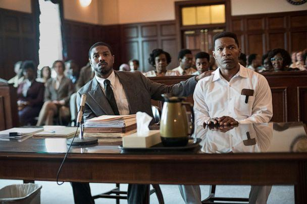 PHOTO: Michael B. Jordan as Bryan Stevenson and Jamie Foxx as Walter McMillian in a scene from the movie 'Just Mercy.' (Jake Giles Netter/Warner Bros.)
