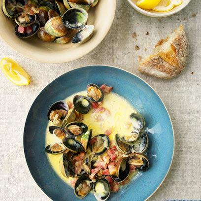 Clams and Smoky Bacon: Food: Recipe: Red Online