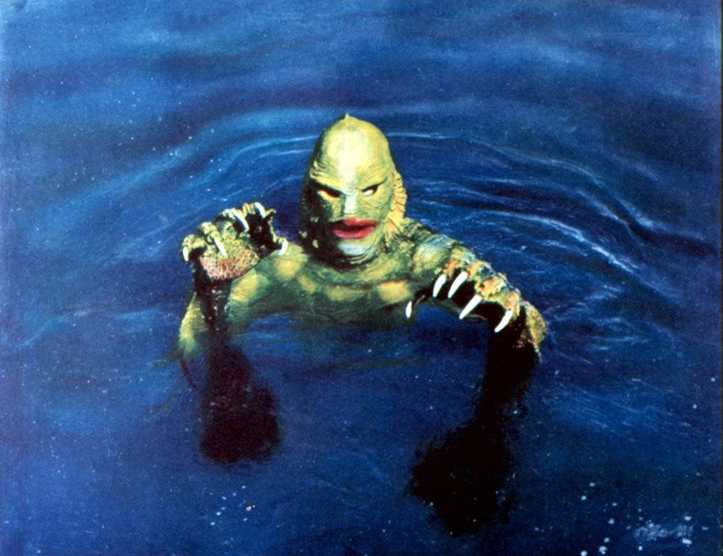 "9. GILL-MAN - <a href=""http://movies.yahoo.com/movie/1800051573/info"">The Creature from the Black Lagoon</a> (1954)   With webbed hands, sharp claws, and a scaly face only a mother could love, Gill-man -- the last surviving member of a race of amphibious humanoids -- continues to conjure up scares nearly 60 years after claiming his first victims in this monster classic."
