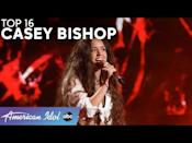 """<p>Luke said right away that he thinks Casey is going to be the next winner of <em>American Idol</em>. With each passing round, it looks like Luke's prediction might come true after all. Each time she walks on stage, Casey brings her vocal A-game and powerful rock energy. </p><p><a href=""""https://www.youtube.com/watch?v=eEvPyn39I_A"""" rel=""""nofollow noopener"""" target=""""_blank"""" data-ylk=""""slk:See the original post on Youtube"""" class=""""link rapid-noclick-resp"""">See the original post on Youtube</a></p>"""
