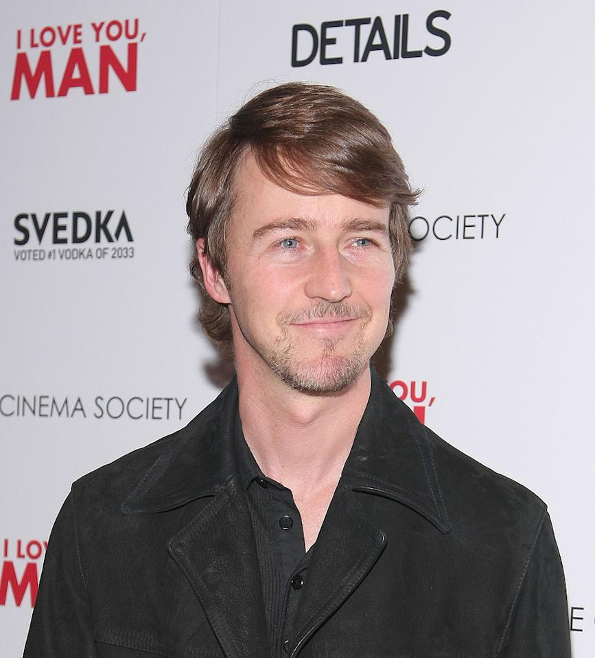 "<a href=""http://movies.yahoo.com/movie/contributor/1800018634"">Edward Norton</a> at the New York Cinema Society screening of <a href=""http://movies.yahoo.com/movie/1810022085/info"">I Love You, Man</a> - 03/06/2009"