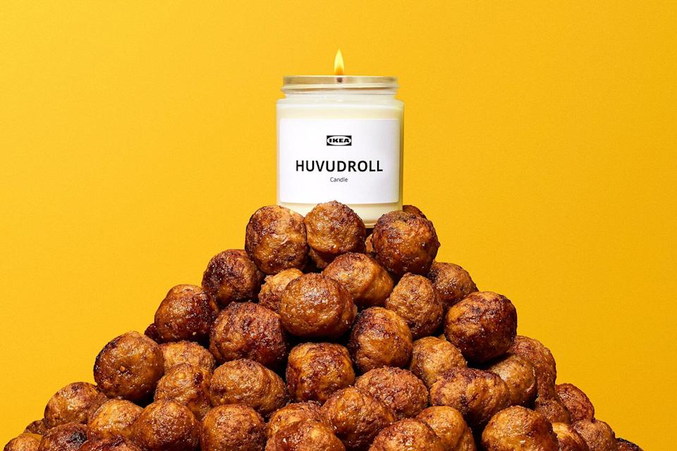 IKEA limited edition HUVUDROLL Meatball scented Candle