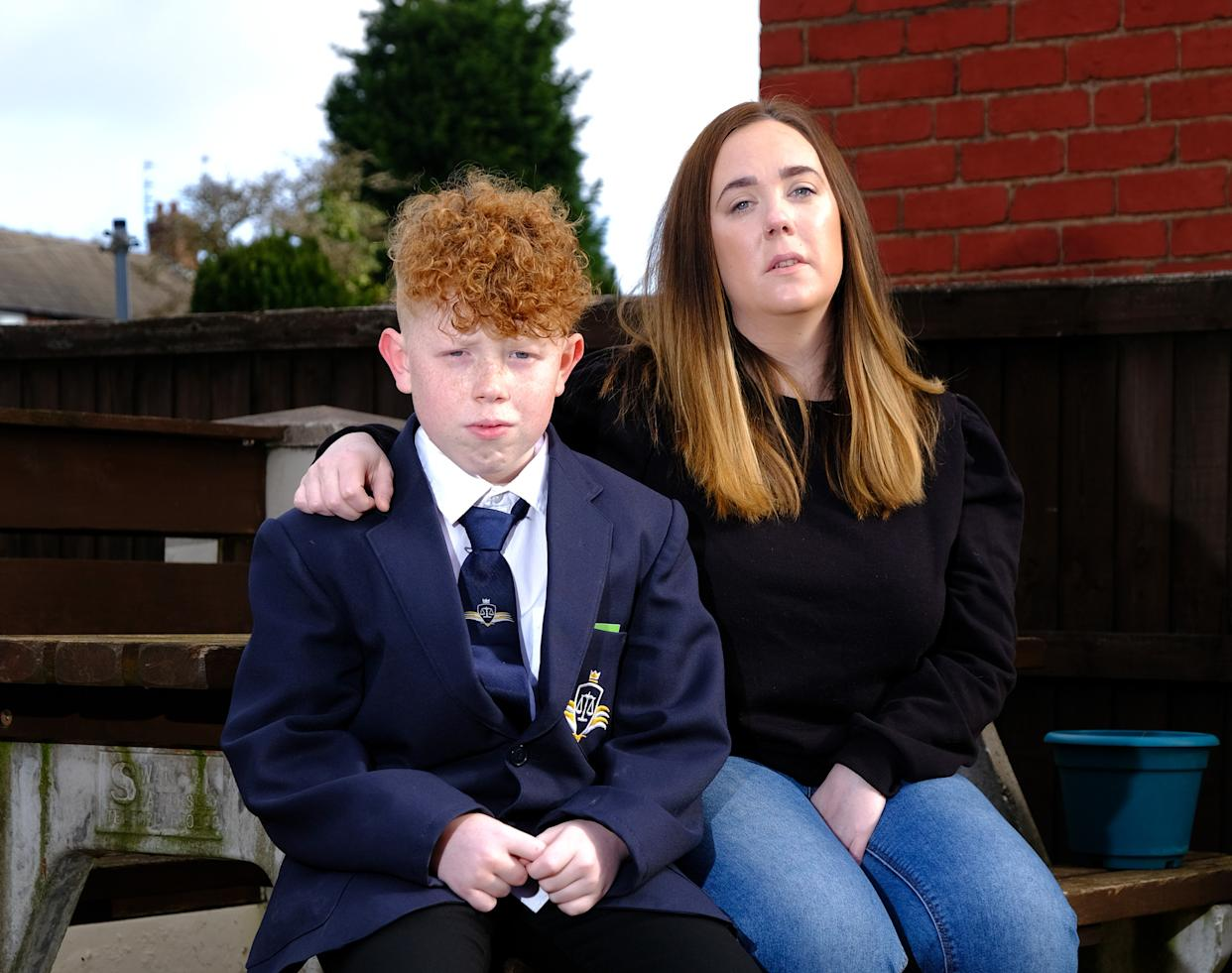 Niall Clews (12) from Birmingham has been put into isolation by his school, St Michael's Church of England High School as they said his lockdown haircut by mum Hannah (33), was too short.