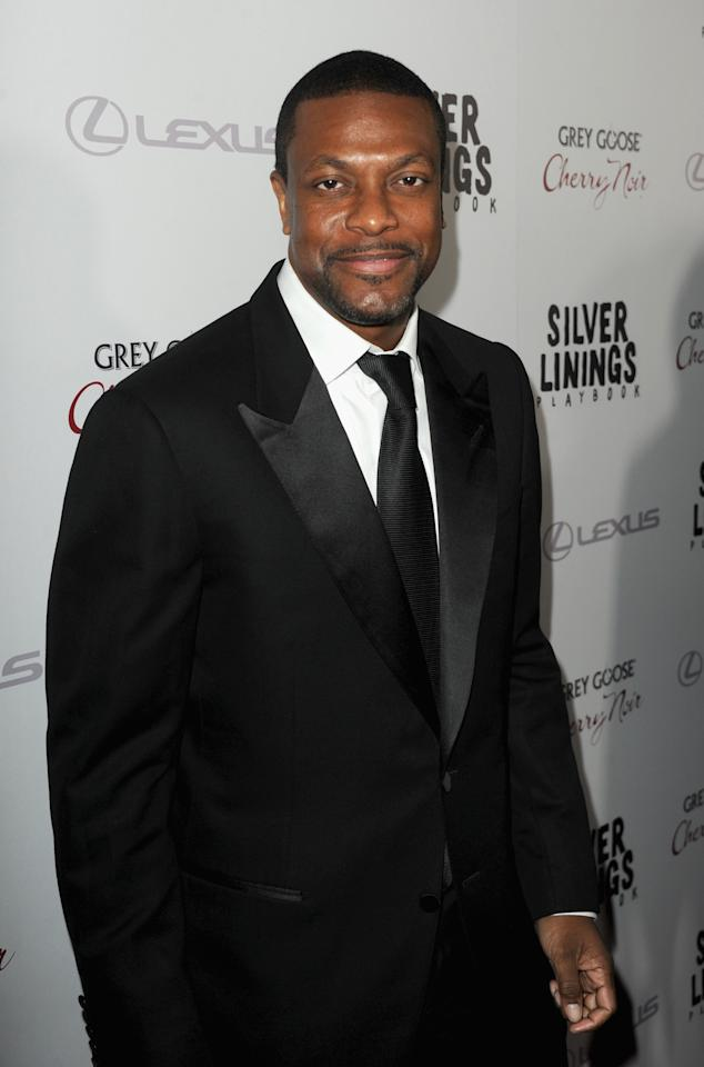 """BEVERLY HILLS, CA - NOVEMBER 19:  Actor Chris Tucker attends a screening of The Weinstein Company's """"Silver Linings Playbook"""" at the Academy of Motion Picture Arts and Sciences on November 19, 2012 in Beverly Hills, California.  (Photo by Kevin Winter/Getty Images)"""