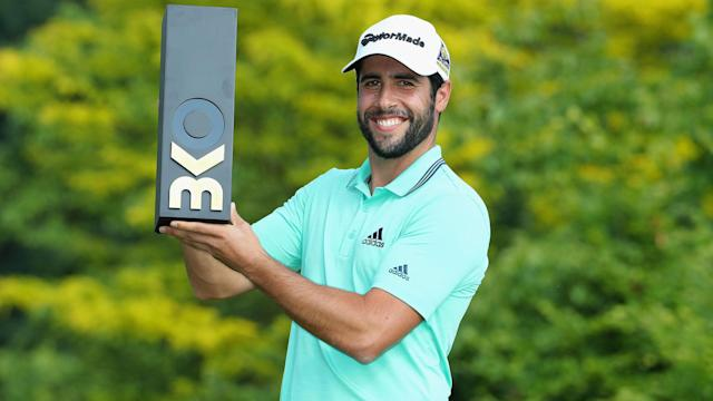 Adrian Otaegui beat Benjamin Hebert by two shots in the final of the Belgian Knockout to win his second European Tour title.