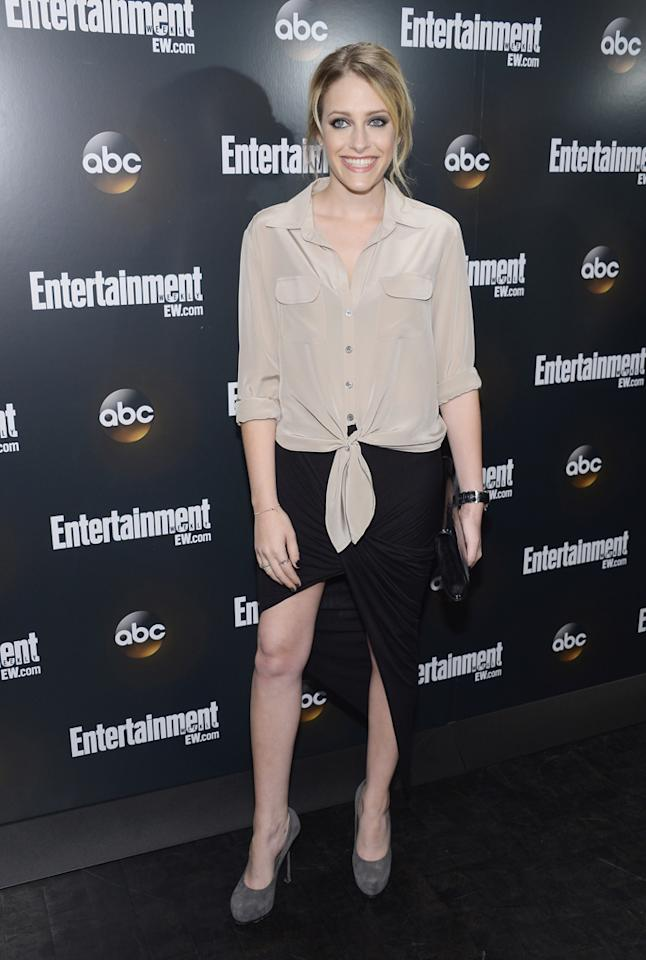 "Carly Chaikin (""Suburgatory"") attends the Entertainment Weekly and ABC Upfront VIP Party at Dream Downtown on May 15, 2012 in New York City."