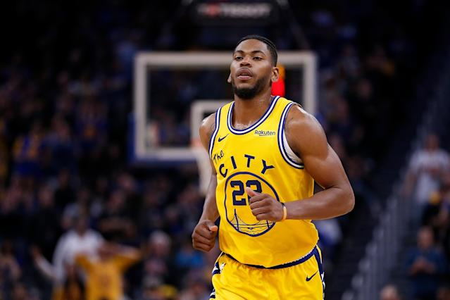"""<a class=""""link rapid-noclick-resp"""" href=""""/nba/players/5351/"""" data-ylk=""""slk:Glenn Robinson III"""">Glenn Robinson III</a> and <a class=""""link rapid-noclick-resp"""" href=""""/nba/players/4893/"""" data-ylk=""""slk:Alec Burks"""">Alec Burks</a> have been traded to the <a class=""""link rapid-noclick-resp"""" href=""""/nba/teams/philadelphia/"""" data-ylk=""""slk:76ers"""">76ers</a> in exchange for three future second round draft picks. (Lachlan Cunningham/Getty Images)"""