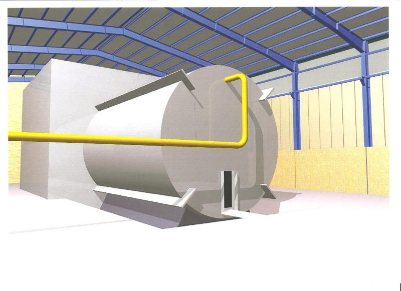 This undated rendering said to come from inside Iran's Parchin military site and obtained by The Associated Press from an official of a country tracking Iran's nuclear activities, shows a chamber of the type needed for nuclear arms-related tests that U.N. inspectors suspect Tehran has conducted at the site. The official demanded that he and his country remain anonymous in exchange for sharing secret intelligence information. Any evidence that such a structure exists is significant in International Atomic Energy Agency attempts to investigate the alleged experiments. (AP Photo)