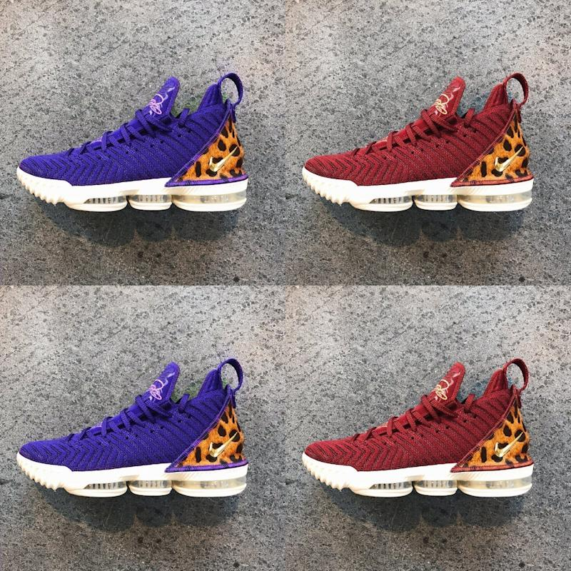 sports shoes f80c3 3038f LeBron James to wear Cavs-themed shoes in first Lakers game  report
