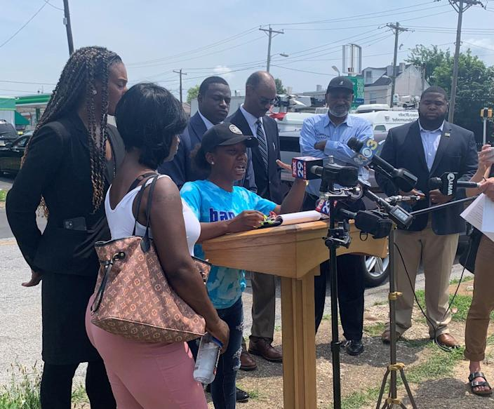 Martiayna Watson speaks on how plainclothes Delaware State Police officers blockaded her car on June 24. The officers left after realizing Watson was not the suspect for which they were looking.