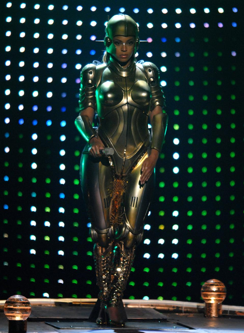 "Beyonce performs ""Get Me Bodied"" (Photo by Michael Caulfield/WireImage for BET Network)"
