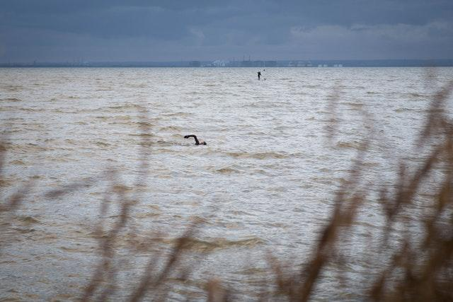 Swimming at Leigh-on-Sea