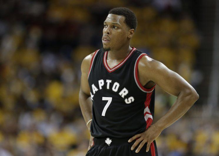 Kyle Lowry is giving up hope, but he also isn't too hopeful he'll play in Game 4. (AP)