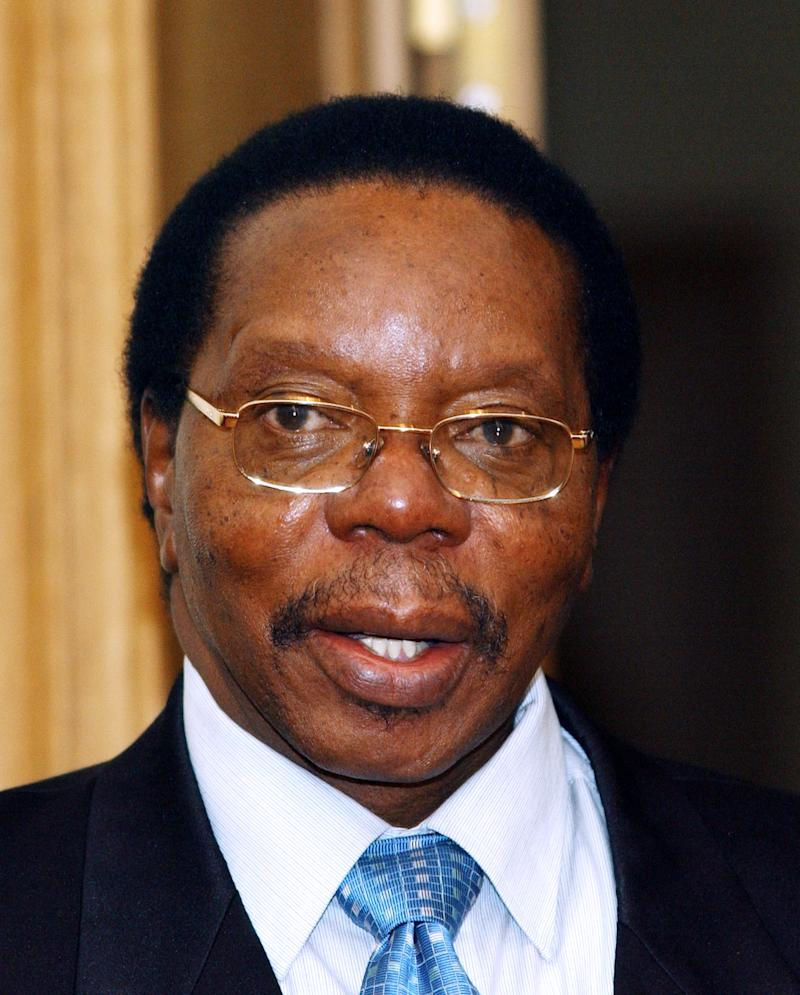 FILE - In this March 8, 2005 file photo the President of Malawi Bingu Wa Mutharika  poses for photographers prior to his  meeting with King Albert II of Belgium  at the Royal Palace in Brussels. Malawi's president was hospitalized Thursday April 5, 2012, with a heart problem, officials said. (AP Photo/Thierry Charlier, File)