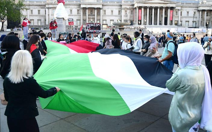 Last month the group organised pro-Palestine protests in London - PA