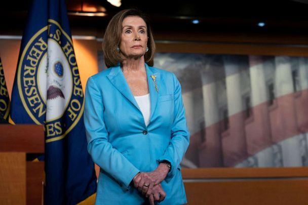 PHOTO: Speaker of the House Nancy Pelosi pauses during a news conference at the Capitol in Washington, D.C., Oct. 2, 2019. (J. Scott Applewhite/AP)