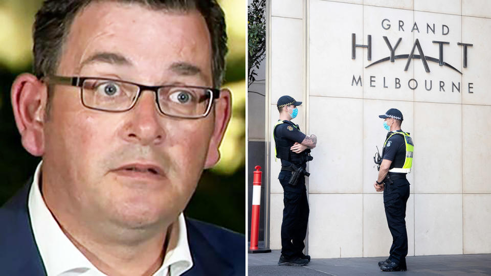Daniel Andrews announced the news on Wednesday night. Image: ABC/Getty