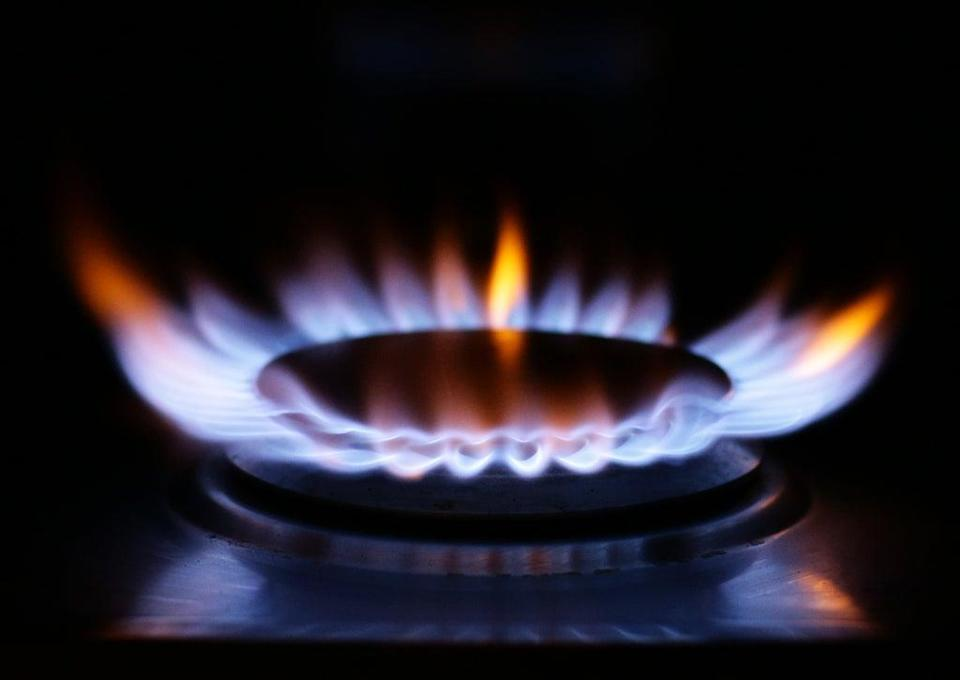 A lit ring on a gas hob at a home in north London (Yui Mok/PA) (PA Wire)