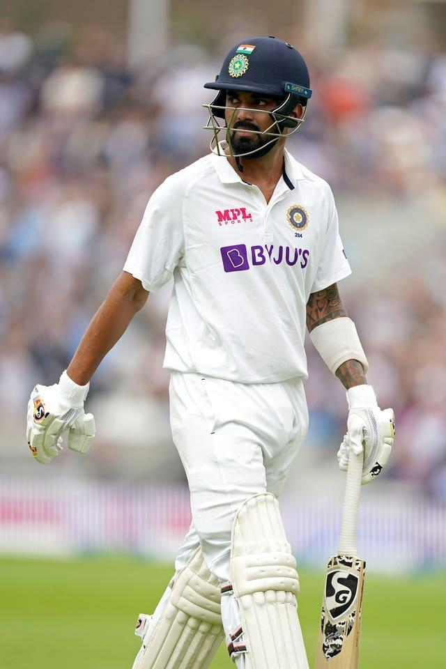 KL Rahul was less than impressed with the manner of his dismissal