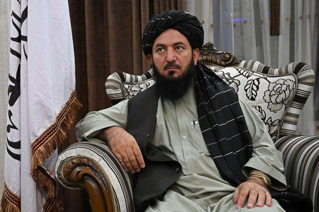 In this picture taken on September 11, 2021, Qari Salahuddin Ayoubi, one of the military commanders of the Taliban, watches during an interview with AFP inside the home of the Afghan warlord Abdul Rashid Dostum in the Sherpur neighborhood of Kabul. - Taliban fighters have taken over the glitzy Kabul mansion of one of their fiercest enemies -- the warlord and fugitive ex-vice president Dostum. - TO GO WITH 'Afghanistan-Conflict-Dostum', SCENE by Emmanuel DUPARCQ (Photo by Wakil KOHSAR / AFP) / TO GO WITH 'Afghanistan-Conflict-Dostum', SCENE by Emmanuel DUPARCQ (Photo by WAKIL KOHSAR/AFP via Getty Images) (Photo: WAKIL KOHSAR via Getty Images)