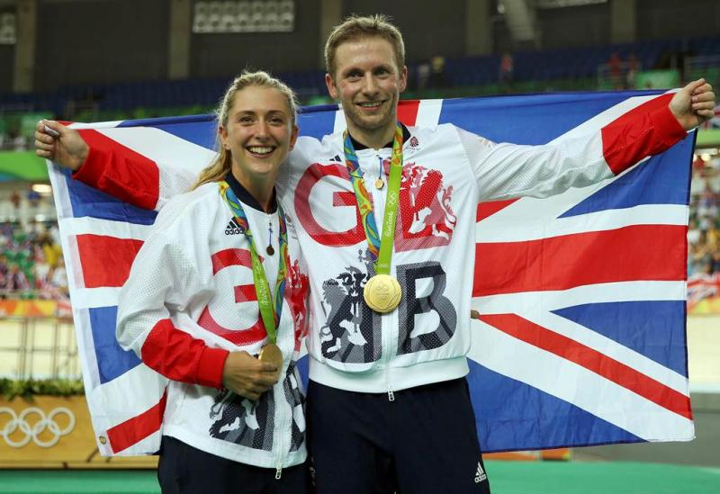 Laura and Jason Kenny celebrating their gold medal success at the 2016 Olympic Games in Rio REUTERS/Matthew Childs FOR EDITORIAL USE ONLY. NOT FOR SALE FOR MARKETING OR ADVERTISING CAMPAIGNS.