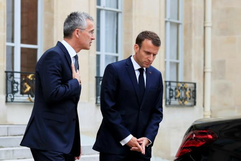 NATO chief Jens Stoltenberg's meeting with French President Emmanuel Macron came ahead of next week's NATO summit outside London
