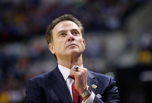 Rick Pitino, who was fired from Louisville in 2017 after multiple investigations, will tell his side of the story in an upcoming memoir that will be released in September. (Getty Images)