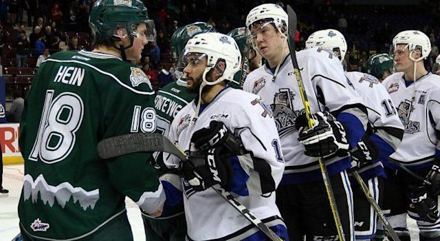 The Victoria Royals' season came to an end after an historic 5-OT loss to the Everett Silvertips. (Photo: Twitter/@victoriaroyals)