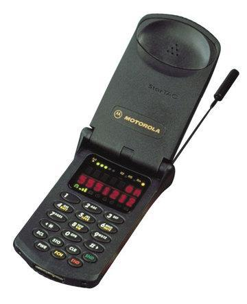 In 1996, Motorola introduced the StarTAC, the first clamshell cell phone.