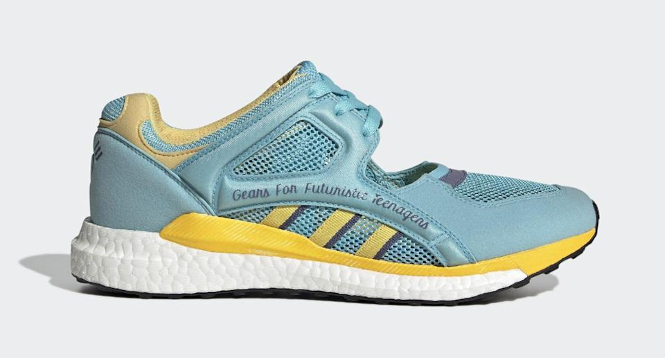 The lateral side of the Human Made x Adidas EQT Racing. - Credit: Courtesy of Adidas