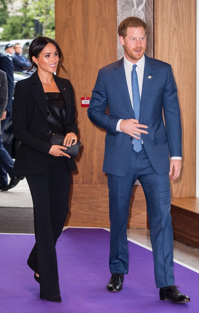 The Duke and Duchess of Sussex attend the WellChild Awards at the Royal Lancaster Hotel in London on Sept. 4. (Samir Hussein via Getty Images)