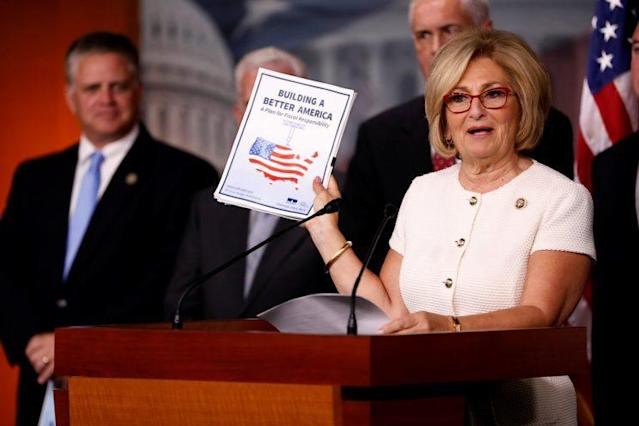 Rep. Diane Black, R-Tenn., announces the 2018 budget blueprint during a press conference on Capitol Hill, July 18, 2017. (Photo: Aaron P. Bernstein/Reuters)