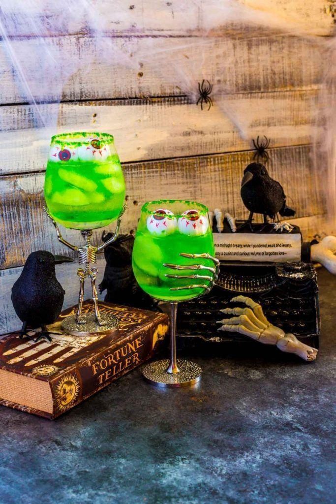 """<p>Toast the season with these super-creepy tequila and melon schnapps-based cocktails.</p><p><a class=""""link rapid-noclick-resp"""" href=""""https://www.confettiandbliss.com/grave-digger-halloween-cocktails/"""" rel=""""nofollow noopener"""" target=""""_blank"""" data-ylk=""""slk:GET THE RECIPE"""">GET THE RECIPE</a> </p>"""
