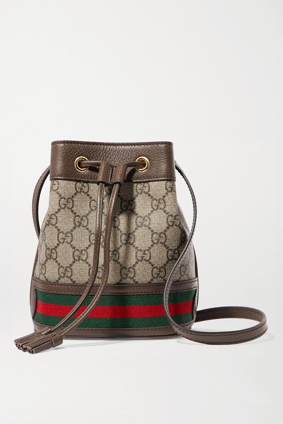 "<p><strong>Gucci</strong></p><p>net-a-porter.com</p><p><strong>$1250.00</strong></p><p><a href=""https://go.redirectingat.com?id=74968X1596630&url=https%3A%2F%2Fwww.net-a-porter.com%2Fen-us%2Fshop%2Fproduct%2Fgucci%2Fophidia-mini-textured-leather-trimmed-printed-coated-canvas-bucket-bag%2F1294492&sref=https%3A%2F%2Fwww.harpersbazaar.com%2Ffashion%2Ftrends%2Fg4447%2Fluxury-gifts-for-women%2F"" rel=""nofollow noopener"" target=""_blank"" data-ylk=""slk:Shop Now"" class=""link rapid-noclick-resp"">Shop Now</a></p><p>A classic.</p>"