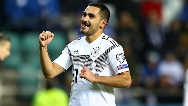 Germany moved closer to Euro 2020 qualification after a 3-0 win in Estonia, with Ilkay Gundogan inspiring the 10 men.