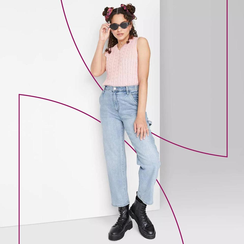 PSA: These High-Rise Utility Jeans Are Just $25 at Target, and They're Already Going Viral on TikTok