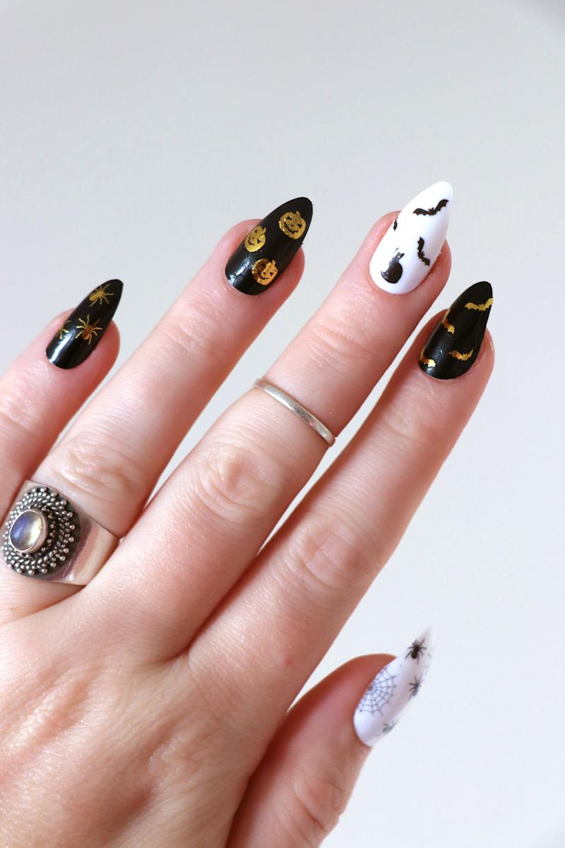 Etsy Halloween nail tattoos