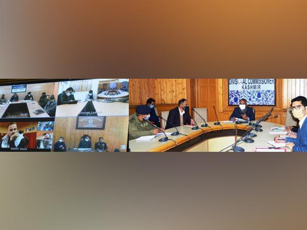 Visuals from meeting of Divisional Commissioners to take stock of preparation for smooth traffic regulation on the Srinagar - Leh highway during the winter (Photo/ANI)